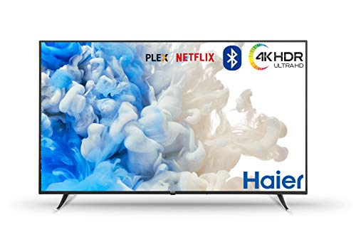 Haier U65H7100 65' 4K Ultra HD HDR Smart TV WiFi - Televisor (Netlfix 4K Ultra HD, HDR, A+, 16:9, 3840x2160, Negro)