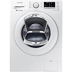 Samsung WW80K5400WW/EG Waschmaschine FL / A+++ / 116 kWh / Jahr / 1400 UpM / 8 kg / weiß / Add Wash / Smart Check / Digital Inverter Motor