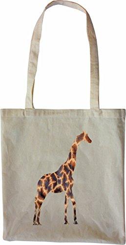 Mister Merchandise Tote Bag Giraffe Borsa Bagaglio , Colore: Nero Naturale