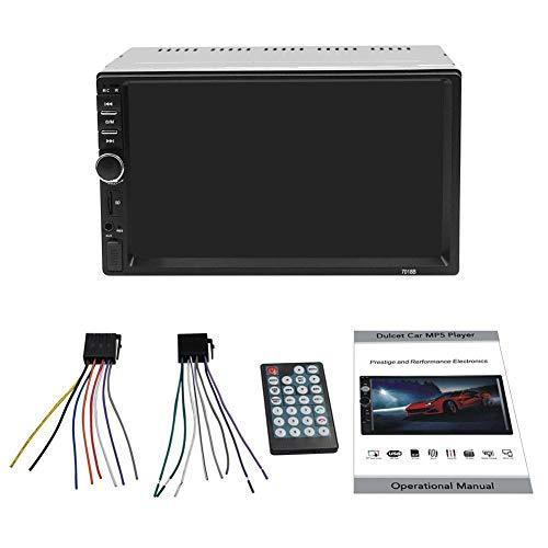Lucky Baby Car Lettore MP5 Bluetooth HD Display Lettore Dvd da 7 Pollici Monitor LCD Touch Screen Audio Senza Fili Chiamata Chiamata in Vivavoce Bluetooth
