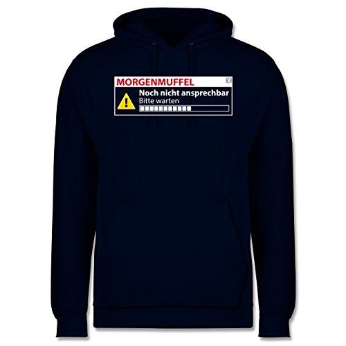 Sprüche - Morgenmuffel - Nicht ansprechbar - Männer Premium Kapuzenpullover / Hoodie Dunkelblau