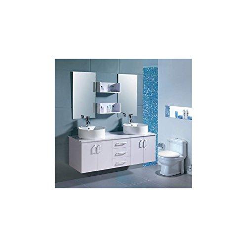 LAtlantic Blanc : Ensemble salle de bain , 2 vasques et 2 miroirs