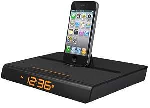 XtremeMac IPU-LV2-13 Luna Voyager II Docking Station für Apple iPhone, iPod und iPad (Radiowecker) schwarz