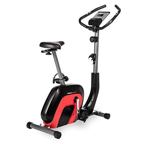 Ultrasport, Negro/Rojo Bicicleta Estática Racer 2000 Ergómetro para la Salud y la Forma...