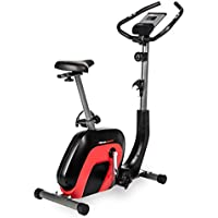 Ultrasport Fitness Ergometro Racer 2000, Cyclette per Salute e Forma Fisica con Display Touchscreen Bluetooth, Pulsazioni, Resistenza 8 Livelli, Sella e Manubrio Regolabili Unisex-Adulto, Nero/Rosso