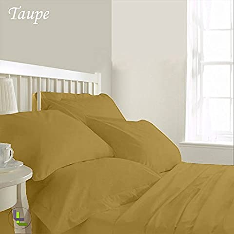 800TC egiziano 100% cotone elegante finitura 6pcs Waterbed Sheet Set Solido (dimensioni: 13), Cotone, Taupe Solid, UK_Super_King