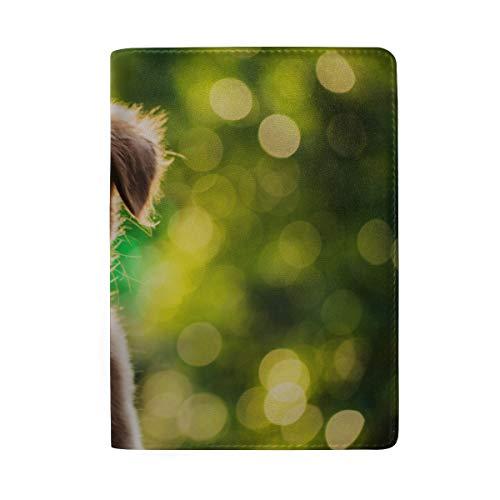 (Lustige Labrador Retriever Puppy Blocking Print Passinhabers Abdeckung Fall Reisegepäck Passport Wallet Kartenhalter Mit Leder Für Männer Frauen Kinder Familie)