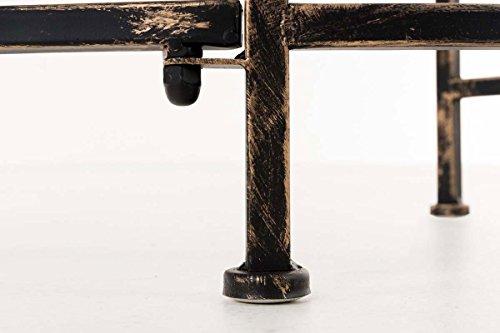 CLP Metall-Gartenbank AMANTI mit Armlehne, Landhaus-Stil, Eisen lackiert, Design antik nostalgisch, Form oval ca. 110 x 55 cm Bronze - 8