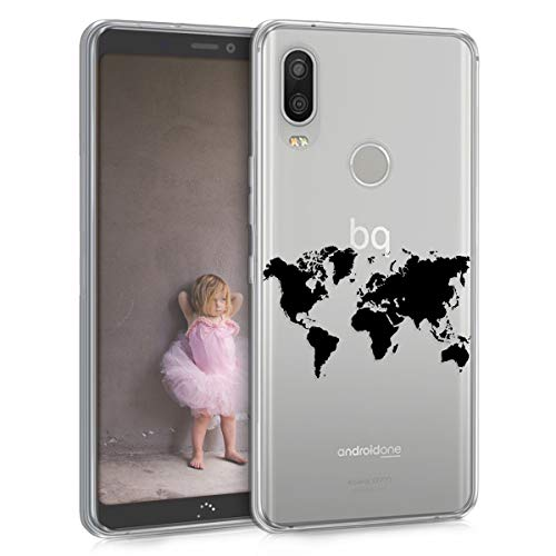 kwmobile bq Aquaris X2 / X2 Pro Hülle - Handyhülle für bq Aquaris X2 / X2 Pro - Handy Case in Schwarz Transparent