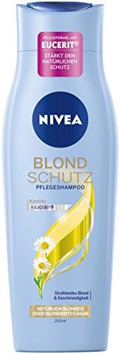 Nivea Blond Schutz Haar-Pflegeshampoo für natürlich blondes oder blondiertes Haar, 6er Pack (6 x 250 ml) (Frei Pflegeshampoo)