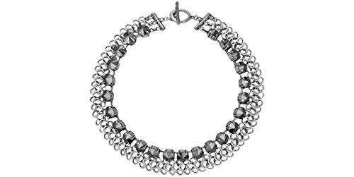 Babylone Collana girocollo opera Rock, placcato argento, con cristallo Swarovski