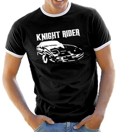 Knight Rider Retro Ringer T-shirt for Men