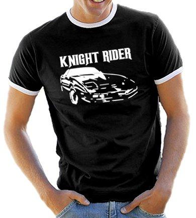 Knight Rider Retro Ringer T-shirt for Men