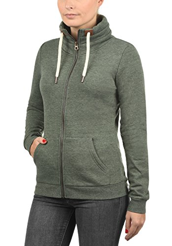 DESIRES Vicky Zipper Damen Sweatjacke Jacke Sweatshirtjacke Mit Stehkragen, Größe:M, Farbe:Climb Ivy (8785) - 2