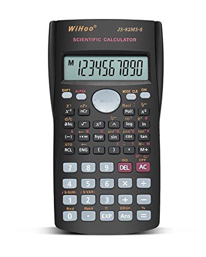 Calculadora científica Por wihoo, calculadora para estudiantes (Black)