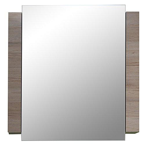 trendteam smart living Badezimmer Spiegelschrank Spiegel Campus, 60 x 80 x 15 cm in Weiß, Eiche San Remo (Nb.) mit viel Stauraum -