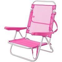 JUINSA Silla de Brazos para Playa Pop de Aluminio Rosa Garden - Lola Derek