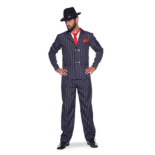 Folat 64005 Mafia-Chef Kostüm, mens, Schwarz, XL/XXL
