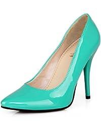 Longfengma - Chaussures Habillées En Plastique Noir Pour 1 Uk Femmes Noires, Noir, Taille 42 2/3