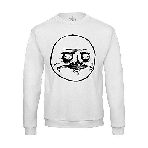 Sweat-shirt Homme Me Gusta Meme Face Internet Troll Fun