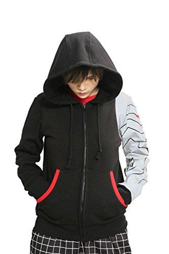 Winter Kostüme Soldier Erwachsene (Erwachsene Cosplay Kostüm Bucky Schwarz Baumwolle Hoodie Kapuzenpullover Sweatshirt Frühling Herbst Kleidung)