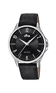 Lotus Watches Reloj Análogo clásico para Hombre de Cuarzo con Correa en Cuero 18518/4