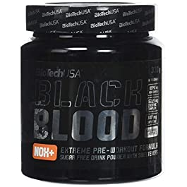 BioTech USA IAF00093060 Black Blood NOX+, 330 g, Arancia Rossa