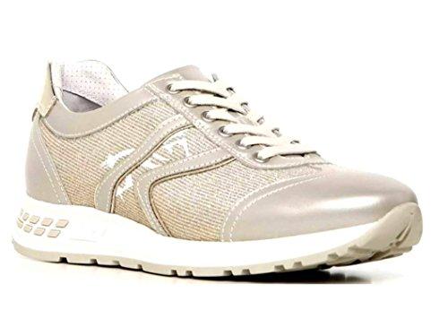 Nero Giardini P717221D Beige Sneakers Scarpe Donna Calzature Comode Nero
