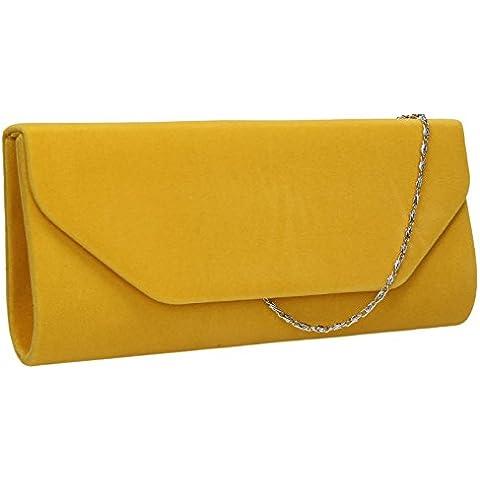 SwankySwansIsabella Velvet Envelope In B - Bolsa mujer