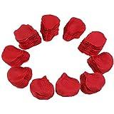 TinkSky 2000pcs réaliste artificiel des soie pétales Rose du rouge décorations pour fête de mariage