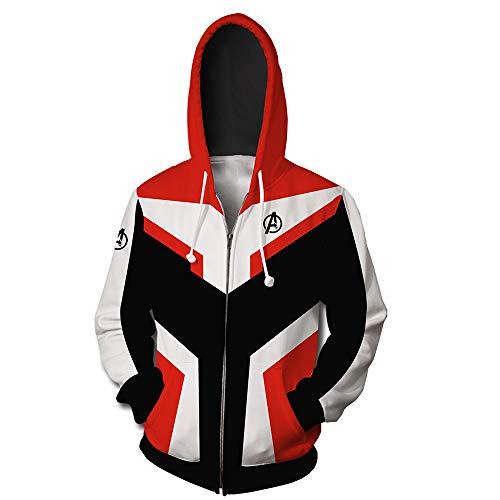 RHGZ Endgame Superhero Hoodie 3D-Druck-Sweatshirt Sets Quantum Realm Mantel Filme Cosplay Hoodies Gruppe Kostüme mit Langen Hose