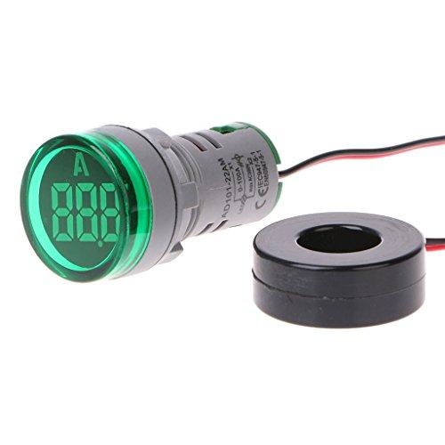 zijianZZJ Armbanduhr, AC220 V, 22 mm, digitales Amperemeter, 0-100 A, Strommessgerät, Signalleuchte, 4#As The Picture Shown