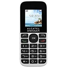 "Alcatel 1016D 1.8"" 63g Negro, Color blanco Teléfono básico - Teléfono móvil (Barra, SIM doble, 4,57 cm (1.8""), 128 x 160 Pixeles, 400 mAh, Negro, Blanco)"