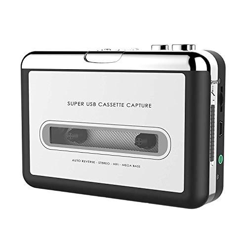 er - Praktischer tragbarer Kassettenrekorder zur Aufnahme von MP3-Audio-Musik über USB - Kompatibel mit Laptops und PCs - Konvertieren Sie Walkman-Kassetten in das iPod-Format ()