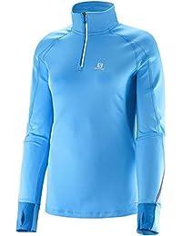 Salomon Trail Runner Warm Women's 1/2 Zip T-shirt Course à Pied - AW15