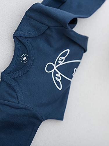 Organic by Feldman Unisex Strampler Overall aus Bio Baumwolle, GOTS Zertifiziert, Schutzengel Ozeanblau (86/92) - 2
