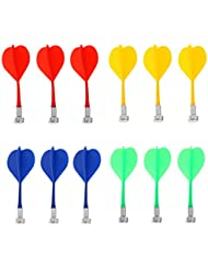 Gazechimp 12 Piezas de Dardos Magnetico de Color Mezclado Duradero Reemplazable