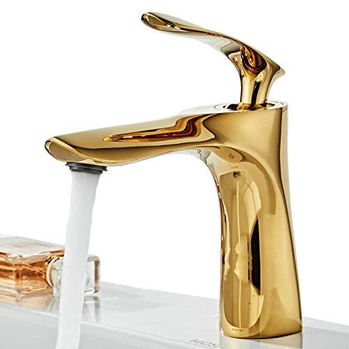 Lavabo rubinetti per lavabo in ottone massiccio rubinetto in stile, oro, XY1003G, Xinyu