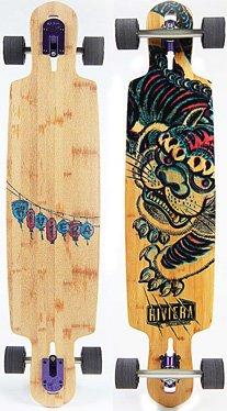 Riviera Komplett-Longboard Longboards-Complete Rviera Kung Fu Kitty, One Size, 195402 (Longboards Riviera)