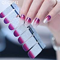 Nail Stickers Decals Art Glitter Series The Cocktail Collection Manicure DIY Nail Polish Strips Wraps