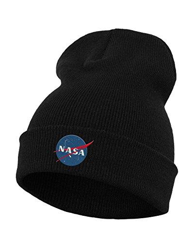 Mister Tee NASA Insignia Beanie, Black, One Size