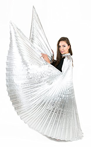 htanz verschiedenen Farben–mit Sticks/Ruten enthalten Einheitsgröße silber (Erwachsenen-angel Wings)
