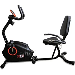 XS Sports Magnetic Recumbent Seated Exercise Bike-Fitness Cardio Weightloss Machine-With PC and Pulse Sensors