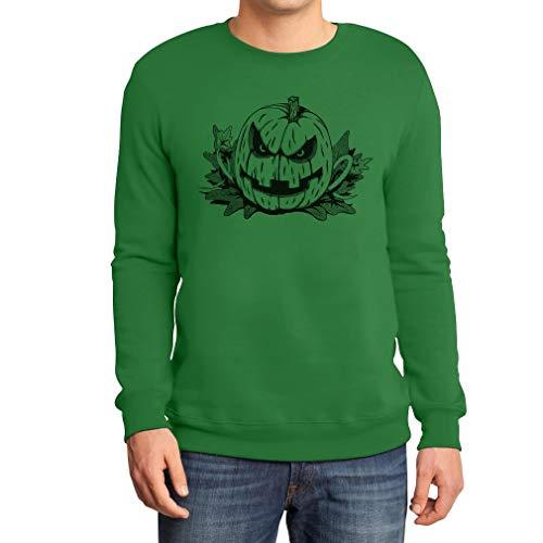 Böses Gruseliges Halloween Kostüm Jack O' Lantern Sweatshirt XX-Large Grün