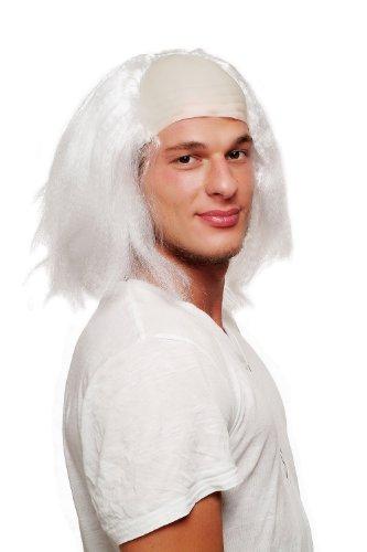 arneval Halloween Perücke Igor Einstein Frankenstein Großvater alter Kauz weiß mit Stirnglatze 4232-P68 (Frankenstein Perücken)