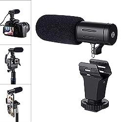 Handy/Kamera Mikrofon, Emiral Richtmikrofon als Zubehör für iPhone, Android-Gerät und Camcorder, externes Mikrofon für Youtuber und Vlogger