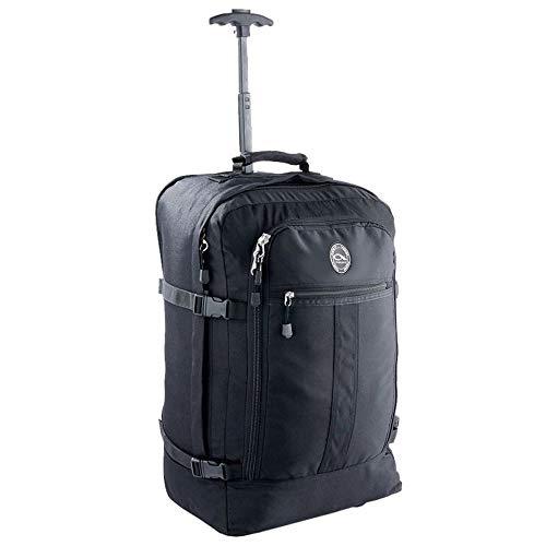 Handgepäck Hybrid rucksacktrolley 44L 55x40x20cm Trolley Koffer (schwarz)
