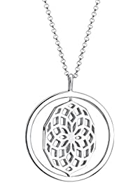 Elli Damen-Kette mit Anhänger Drehscheibe Ornament 925 Sterling Silber 80 cm 0106111016_80