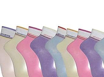 12 Paar Sneakersocken Sportsocken Füßlinge Damen Freizeit Gr. 35 - 42 (35-38)
