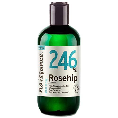 Naissance Wildrosenöl BIO/Hagebuttenkernöl BIO (Nr. 246) 250ml - kaltgepresst, rein und natürlich, vegan
